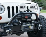 PJ1051: BOLT-ON JK FRONT WINCHGUARD W/LIGHT MOUNTS