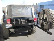 PJ2003: JEEP JK STUBBY REAR & SQUARE FRAME TIRE CARRIER (SMOOTH)