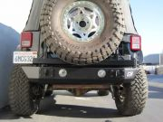 PJ2004: JEEP JK REAR STUBBY BUMPER W/FOG LIGHT MOUNTS