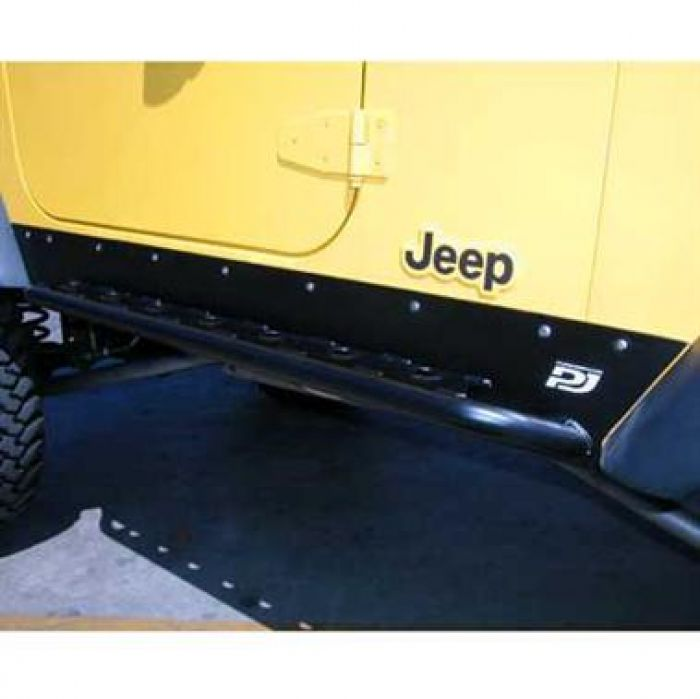 PJ3100: JEEP TJ FORMED ROCKER SKIDS (STANDARD ANGLE)