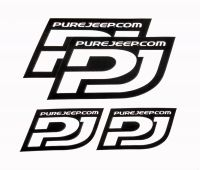 PJ-DIE: PUREJEEP STICKER SET
